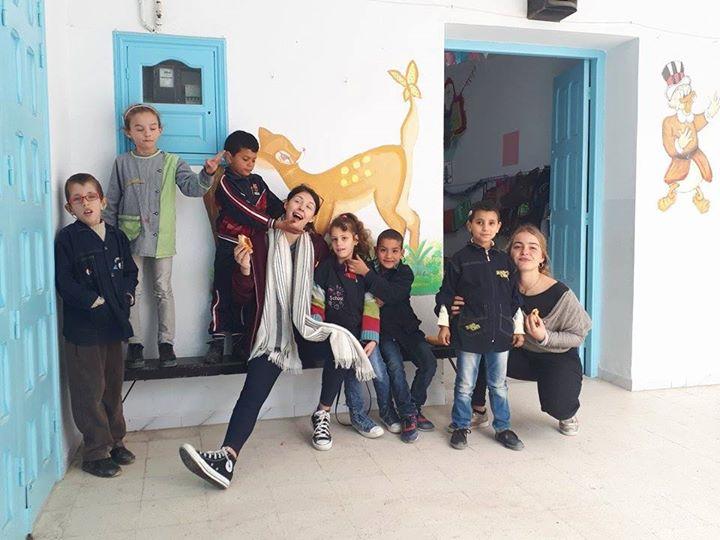 ATAS, ÉCOLE POUR ENFANTS SOURDS ET MUETS À MAHDIA (TUNISIE) ORGANISE UN CHAMPIONNAT LUDIQUE, AVEC L'APPUI DE MAYA ET ROMANE, VOLONTAIRES